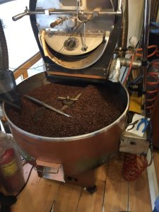 Roasting coffee